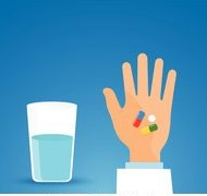 taking-the-pill-medicationperson-holds-in-hands-capsule-next-to-the-glass-of-water-clipart-vector_csp40344551